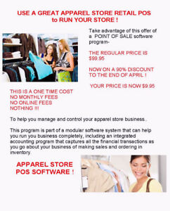 USE AB APPAREL STORE RETAIL POS to RUN YOUR CLOTHING STORE !