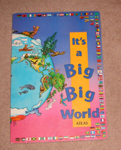"It's a Big Big World Atlas Book (approx 16"" x 23"")"