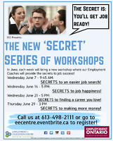 "EEC Presents - The new ""Secret Series"" of workshops! in June!"