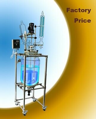 Sf-20l Laboratory Glass Reactor Double Layer Jacketed Glass Reactor