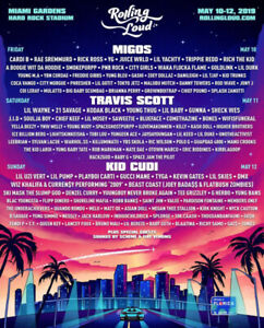 2 3DAY ROLLING LOUD MIAMI TICKETS