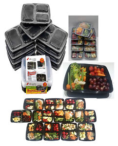 Meal Prep Food Containers/Bento Lunch Boxes with lids. (10/20 P