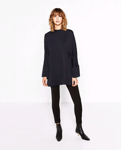 NWT Zara High Neck Tunic sz Small