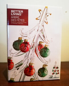 Better Living Christmas tree glass tabletop decoration