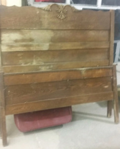 Antique Solid Wood Bed