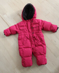 Down filled GAP one-piece snow suit, size 0 - 6 months