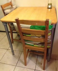 Cute wooden table and chairs set for small kitchen/dining room