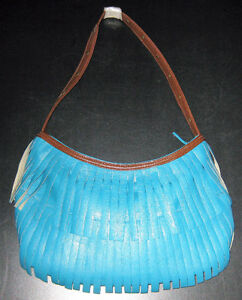 Fringed Faux Leather Purse F/S