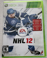 NHL 12 Xbox 360 Game / Jeux NHL 12 pour console Xbox 360 NEW