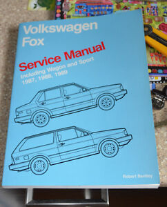 Volkswagen FOX 1987, 1988, 1989 Service Manual