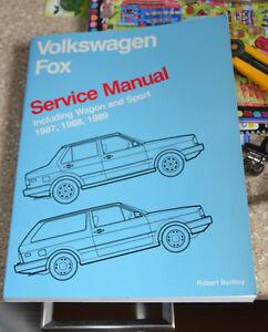 Volkswagen FOX 1987, 1988, 1989 Service Manual