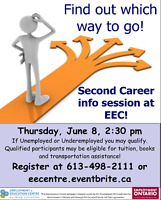 Get a first chance at Second Career at EEC in June!