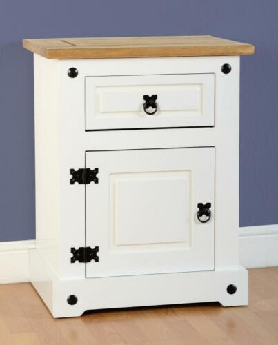 Corona-Waxed-Pine-and-White-Drawer-Chest-Bedside-Wardrobe-Dresser-Stool