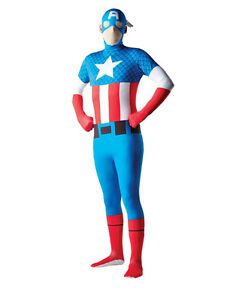 2nd Skin Mens Superhero Licensed Fancy Dress Costume Full Body Lycra Skinz Suit