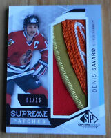 2015-16 , SP Game Used , Supreme Patches , Denis Savard