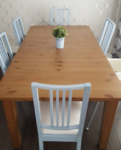Solid Pine Dining Table (Expandable)