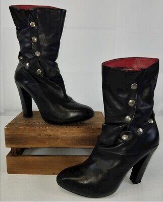 ALEXANDER MCQUEEN⚡️Button leather steam punk Victorian cosplay boots 39EU/9US