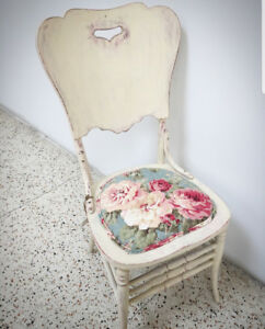 Painted, reupholstered chair