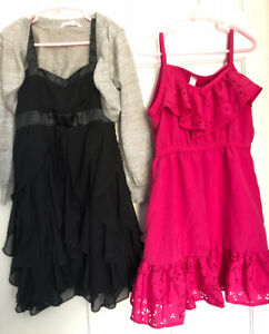 Two dresses and shrug size 7/8