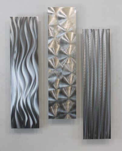 Contemporary Metal Abstract Modern Silver Wall Art Sculpture - Driving Force