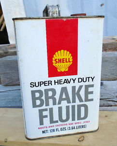 RARE 1970's Vintage SHELL SUPER HEAVY DUTY BRAKE FLUID Can