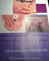 Gel Nails at your place. In North Bay and area.
