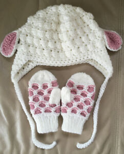 Baby Lamb Hat and Mitts