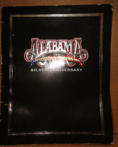 Alabama Country Rock Band Farewell Silver Anniversary Tour Book