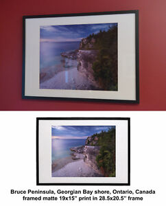 Framed Ontario nature artistic photo prints fine art photography