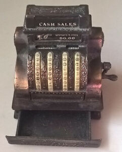 Vintage Die Cast Metal Pencil Sharpener National Cash Register,