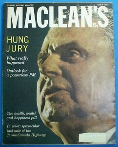 MACLEANS WEEKLY MAGS FROM LATE 80'S & EARLY 60'S