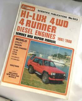 Toyota 1988 Surf 4x4 Gregory's Manual #503