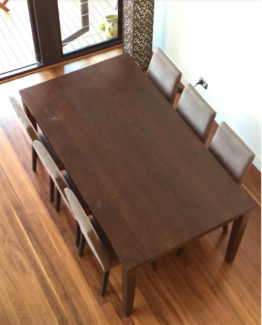 7 piece dining room setting (table and 6 chairs) Rozelle Leichhardt Area Preview