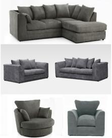 Brand New Jumbo Cord Corner&3+2 Sofa