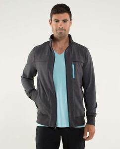 LULULEMON POST GRAVITY JACKET HEATHERED BLACK SIZE LARGE