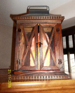 NEW PRICE-DECORATIVE WOOD LANTERN Kitchener / Waterloo Kitchener Area image 1