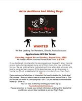 Monsters Wanted For Our Fright Team
