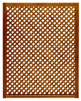 Celosia de madera 114x92 cm enmarcada y tratada para exterior - Color...
