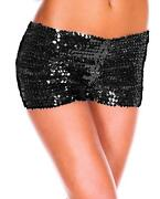 Black Sequin Hotpants