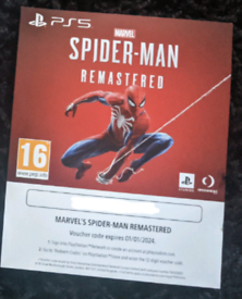Spiderman Remastered PS5