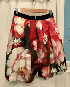 TED BAKER FLORAL SKIRT SIZE 1 (US 0-2)