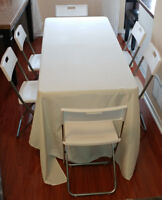 CHAIR $1 and TABLE $5 RENTAL