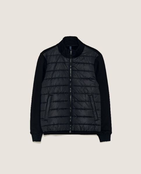 ZARA Puffer Quilted Jacket Knit Sleeves/Back MENS Large NEW