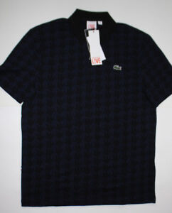 Very Rare Lacoste L!ve Houndstooth Polo Space Invader Print