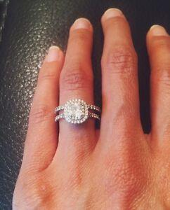 Tiffany Co Soleste Cushion Diamond Double Halo Engagement Ring
