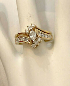 14k yellow gold diamond engagement ring ^Appraised at $3,700