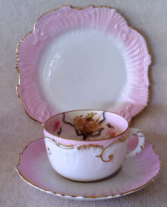 Trio – Pink, White and Gold Vintage Teacup set