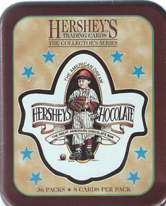 Hershey's Trading Cards Collector's Tin    (36 packs )
