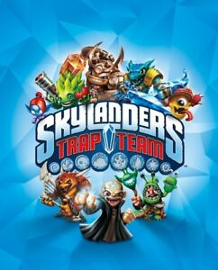 Skylanders Trap Team game + box full of figurines