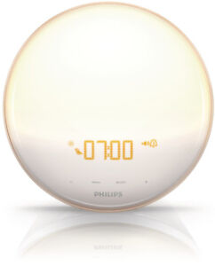 Philips Wake-Up Light Coloured Sunrise Simulation, White